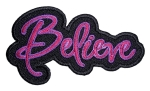 Ladies biker patch pink believe