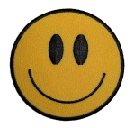 Smiling face biker patch
