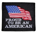 American flag biker patch