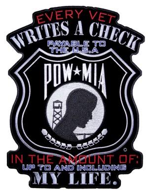 POW-MIA biker patch