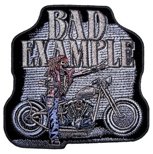 Skeleton rider biker patch