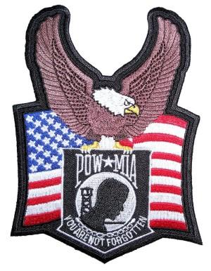 Biker patch for POW MIA