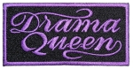 Drama Queen biker patch purple