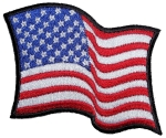 Ladies American flag biker patch