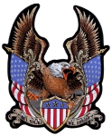 Eagle american flags biker patch