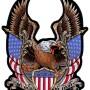 Patriotic eagle with flags