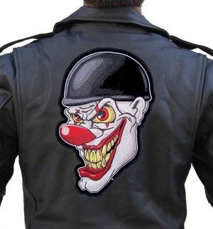 Evil clown face patch