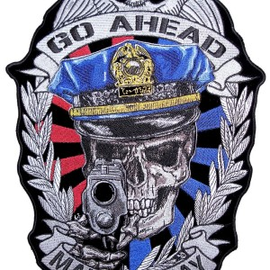 Make my day cop biker patch