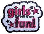 Girls just want to have fun patch
