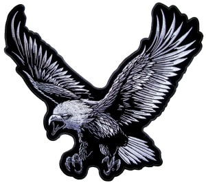 Flying bald eagle patch