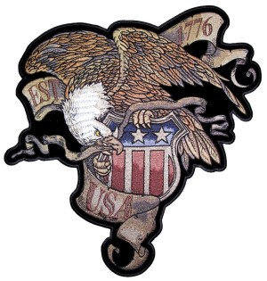 Patriotic eagle patch