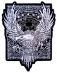 Live free ride hard eagle patch