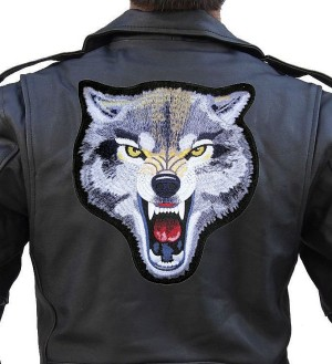 mean wolf patch