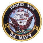 Proud wife US Navy patch