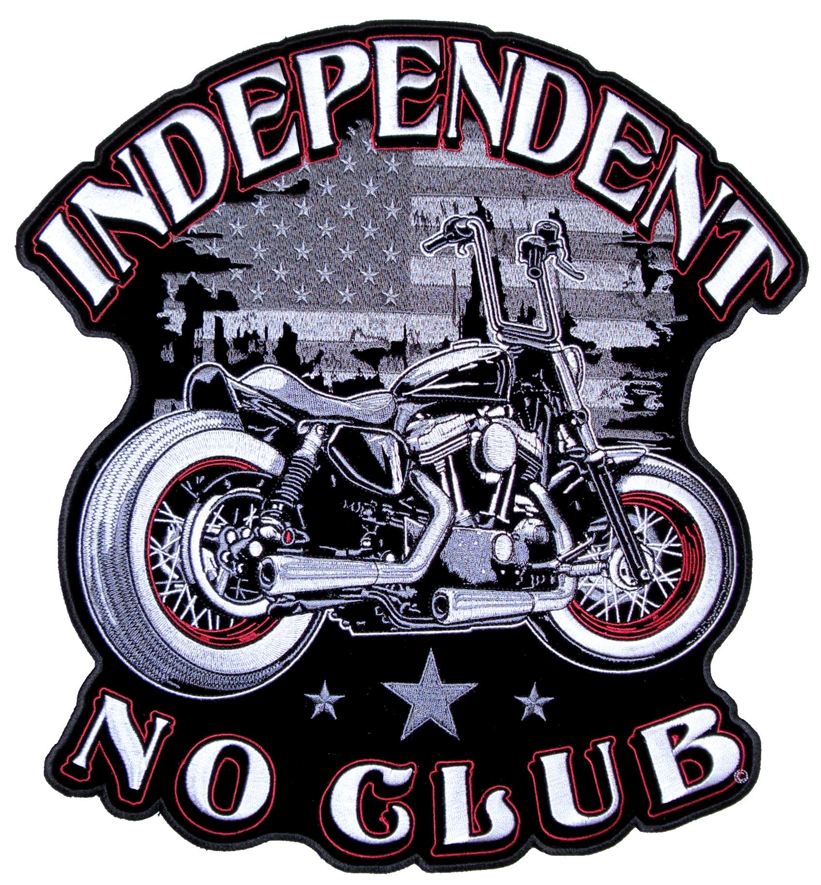 Mens Independent No Club Motorcycle Patriotic Biker Patch