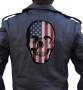 Skull biker patch