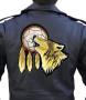 Wolf biker patch
