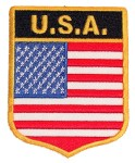 Patriotic USA flag badge patch