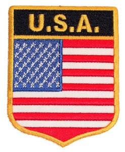 Patriotic USA flag badge patch