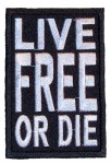 Live free or die biker patch