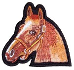 Horse head animal patch