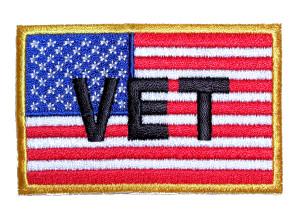Patriotic VET flag biker patch