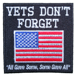 Vets don't forget flag patch