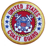 US coast guard biker patch