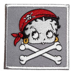 Betty Boop as pirate patch