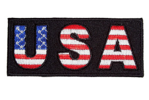 American flag USA biker patch