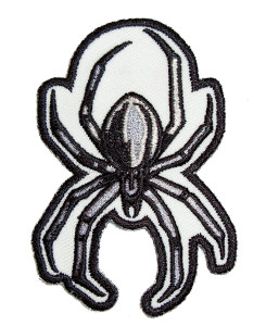 Black and silver spider patch