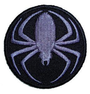 Tribal spider biker patch
