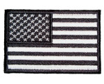 Black American flag patch