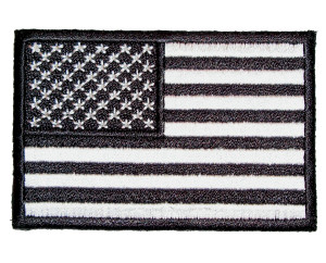 Black American flag patch