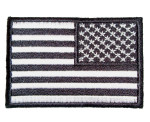 Reversed black American flag patch