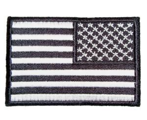 Reversed black American flag patch