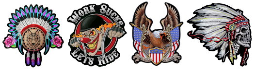 Top quality biker patches