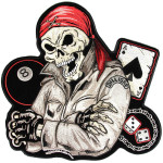 Biker life guy skull patch