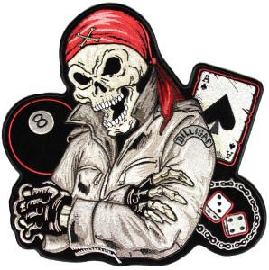 Biker life guy skull patch