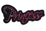 Sexy lady rider princess biker patch