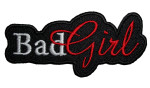 Bad girl lady rider biker patch