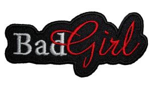 Bad girl lady rider biker patch