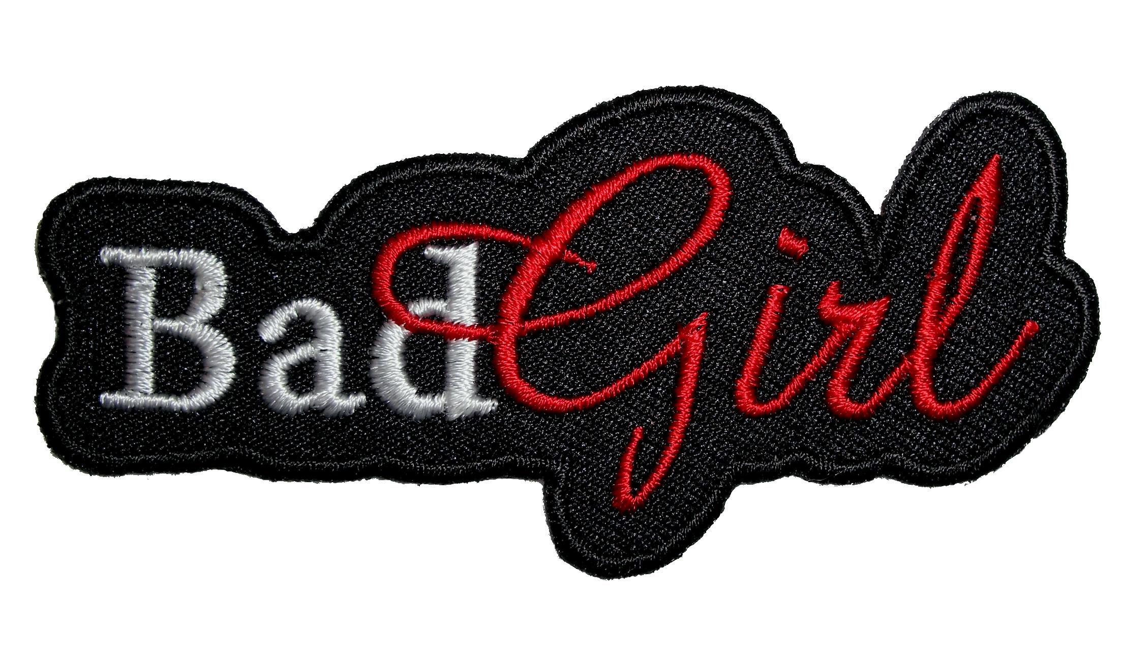 Biker Vest Patches >> Bad Girl Lady Rider Embroidered Lady Biker Patch – Quality Biker Patches