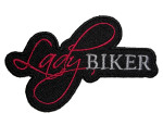 Sexy lady rider biker patch