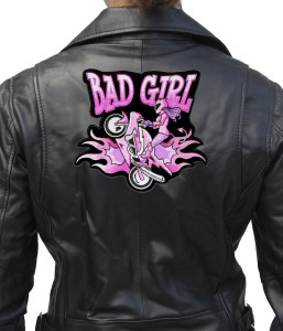 Motorcycle lady biker patch