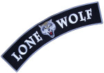 Lone wolf rocker biker patch