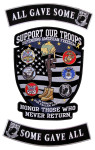 Support our troops 3 piece rocker set patch