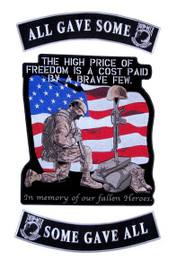 Patriotic rocker patch set