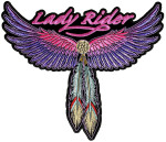 Lady rider wings feathers patch
