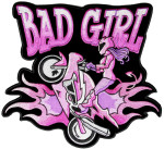 Bad girl motorcycle lady rider patch